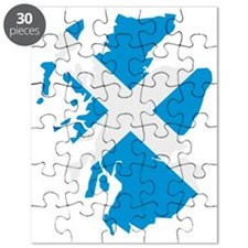 Scotland map flag Puzzle