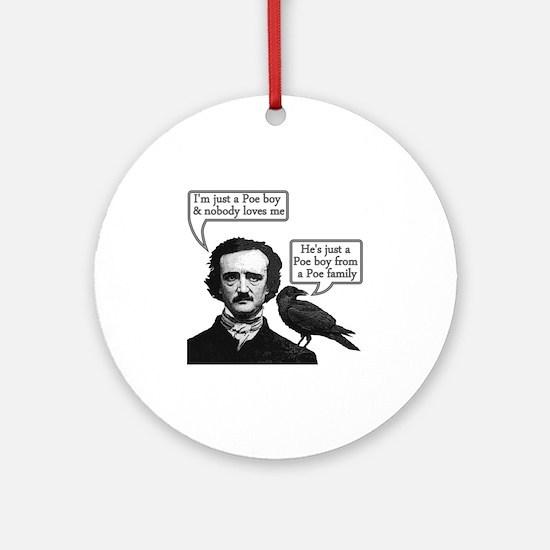 Edgar Allan Poe Riffs On Queen's Bo Round Ornament