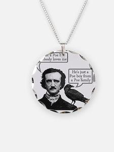 Edgar Allan Poe Riffs On Que Necklace Circle Charm