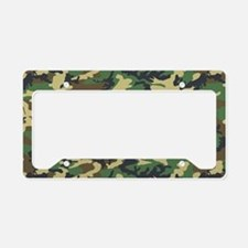 Woodland camo laptop skin License Plate Holder