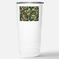 Woodland camo laptop sk Travel Mug