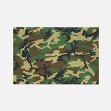 Woodland camo laptop skin Rectangle Magnet