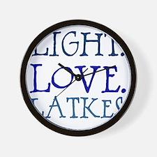 Light. Love. Latkes. Wall Clock