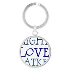 Light. Love. Latkes. Round Keychain