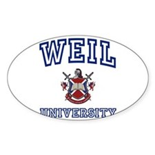 WEIL University Oval Decal