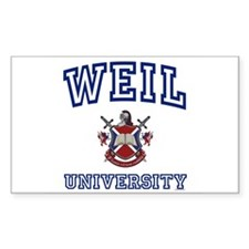 WEIL University Rectangle Decal