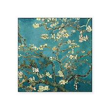 "Van Gogh Almond Branches In Square Sticker 3"" x 3"""