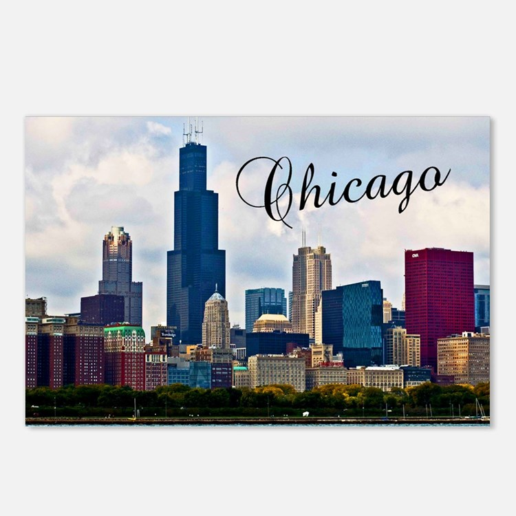 Chicago_4.25x5.5_NoteCard Postcards (Package of 8)