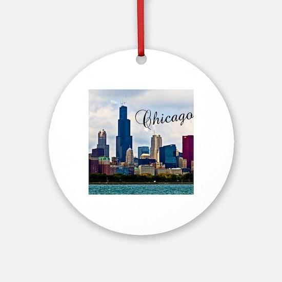 Chicago_4.25x5.5_NoteCards_Skyline Round Ornament