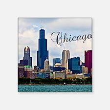 "Chicago_4.25x5.5_NoteCards_ Square Sticker 3"" x 3"""