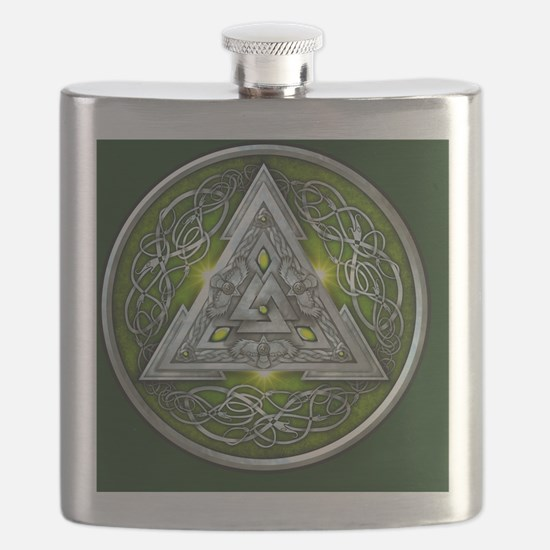 Norse Valknut - Green Flask