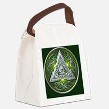 Norse Valknut - Green Canvas Lunch Bag