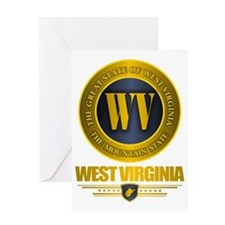 West Virginia Gold Label Greeting Card