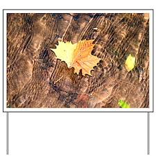 Float Leaf Rug Yard Sign