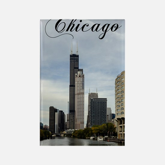 Chicago_5.5x8.5_Journal_Skyline Rectangle Magnet