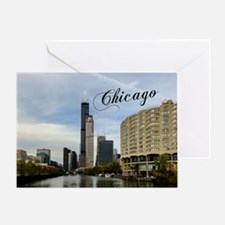 Chicago_10X8_puzzle_mousepad_Skyline Greeting Card