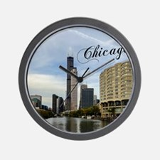 Chicago_10X8_puzzle_mousepad_Skyline Wall Clock