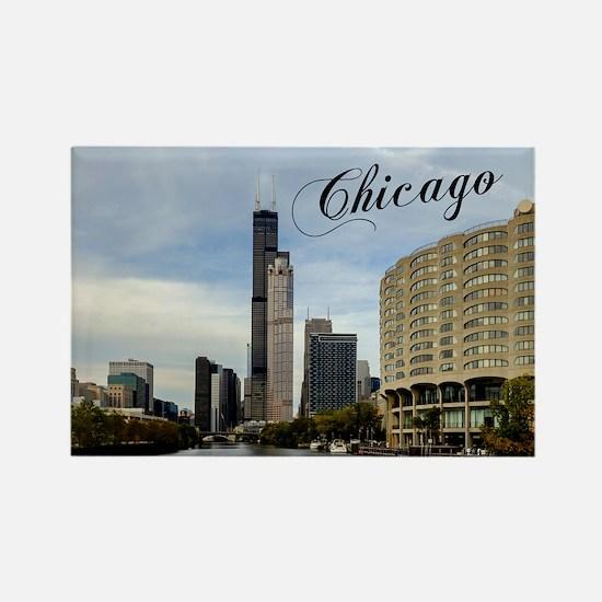 Chicago_10X8_puzzle_mousepad_Skyl Rectangle Magnet