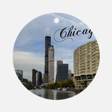 Chicago_10X8_puzzle_mousepad_Skylin Round Ornament