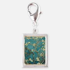 Van Gogh Almond Branches In  Silver Portrait Charm
