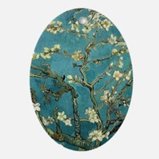 Van Gogh Almond Branches In Bloom Oval Ornament