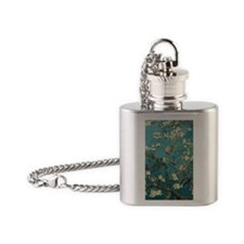Van Gogh Almond Branches In Bloom Flask Necklace