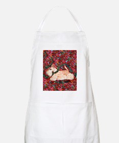 Wheaten Scottish Terrier on Red Apron
