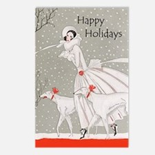 Art Deco Happy Holidays Postcards (Package of 8)