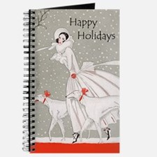 Art Deco Happy Holidays Journal