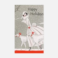 Art Deco Happy Holidays Decal