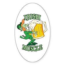 Irish Muscle 2 Oval Decal
