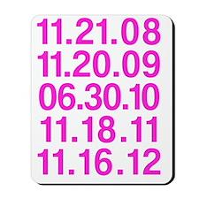 Twilight Opening Dates Mousepad