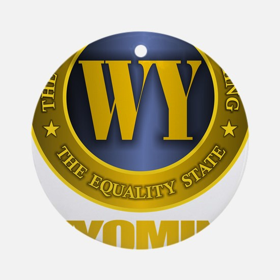 Wyoming Gold Label Round Ornament