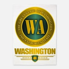 Washington State 5'x7'Area Rug