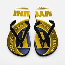 Wyoming Gold Label Flip Flops