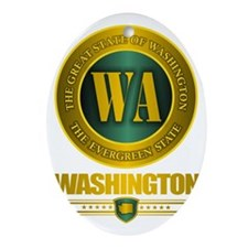 Washington State Oval Ornament