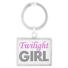 Twilight Girl Landscape Keychain