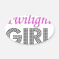 Twilight Girl Oval Car Magnet