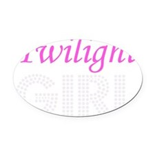 Twilight Girl Oval Car Magnet