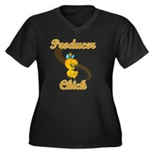 Producer Chi Women's Plus Size Dark V-Neck T-Shirt
