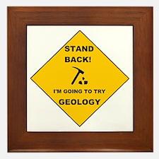 Stand Back Geo 1 Framed Tile