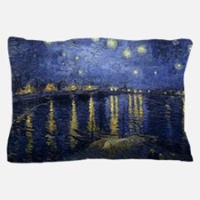 Van Gogh Starry Night Over The Rhone. Pillow Case