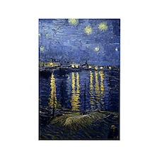 Van Gogh Starry Night Over Rhone Rectangle Magnet