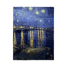 Van Gogh Starry Night Over Rhone Twin Duvet