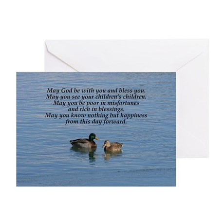 Irish Marriage Blessing Note Cards (Package of