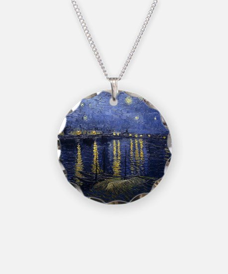 Van Gogh Starry Night Over R Necklace