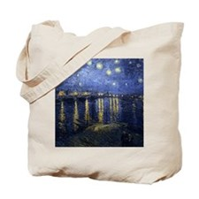 Van Gogh Starry Night Over Rhone Tote Bag