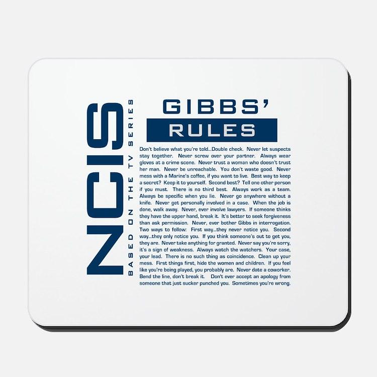 NCIS Gibbs Rules Mousepad