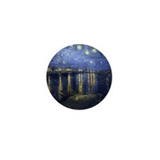 Van Gogh Starry Night Over Rhone Mini Button