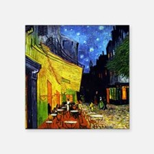 "Van Gogh Cafe Terrace At Ni Square Sticker 3"" x 3"""
